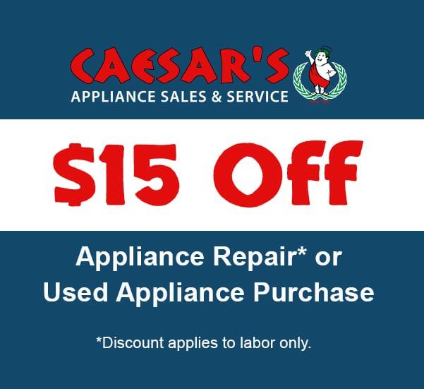 Caesar S Appliance Sales Amp Service Appliance Repair