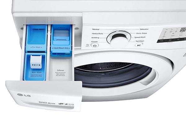 where to put liquid detergent in lg front load washing machine