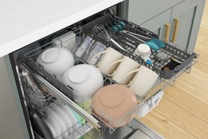 What do you put on third rack of dishwasher